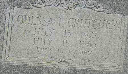 CRUTCHER, ODESSA T. - Pulaski County, Arkansas | ODESSA T. CRUTCHER - Arkansas Gravestone Photos