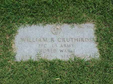 CRUTHIRDS (VETERAN WWI), WILLIAM R - Pulaski County, Arkansas | WILLIAM R CRUTHIRDS (VETERAN WWI) - Arkansas Gravestone Photos