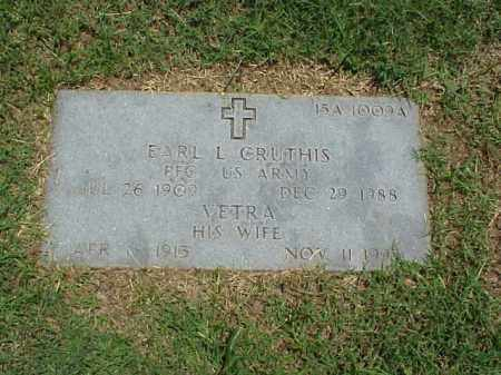 CRUTHIS (VETERAN WWII), EARL L - Pulaski County, Arkansas | EARL L CRUTHIS (VETERAN WWII) - Arkansas Gravestone Photos