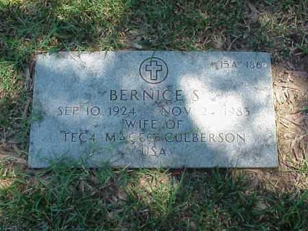 CULBERSON, BERNICE S - Pulaski County, Arkansas | BERNICE S CULBERSON - Arkansas Gravestone Photos