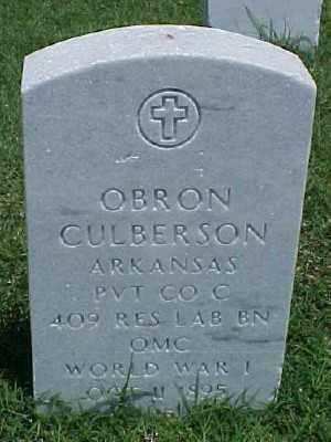 CULBERSON (VETERAN WWI), OBRON - Pulaski County, Arkansas | OBRON CULBERSON (VETERAN WWI) - Arkansas Gravestone Photos