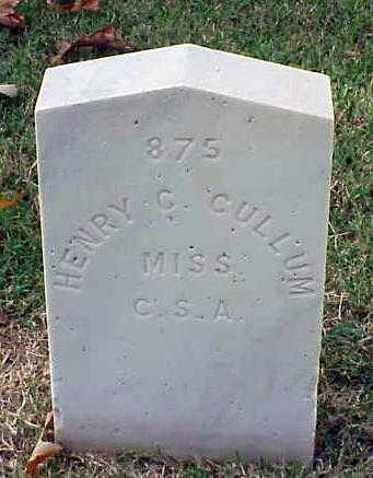 CULLUM (VETERAN CSA), HENRY C - Pulaski County, Arkansas | HENRY C CULLUM (VETERAN CSA) - Arkansas Gravestone Photos