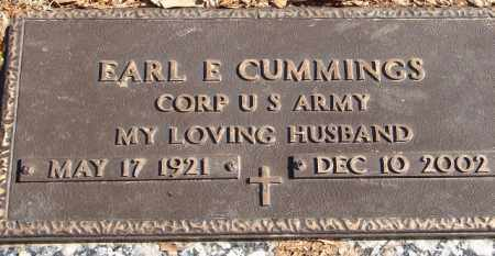 CUMMINGS (VETERAN), EARL E - Pulaski County, Arkansas | EARL E CUMMINGS (VETERAN) - Arkansas Gravestone Photos