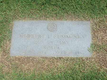 CUMMINGS (VETERAN KOR), HERBERT L - Pulaski County, Arkansas | HERBERT L CUMMINGS (VETERAN KOR) - Arkansas Gravestone Photos