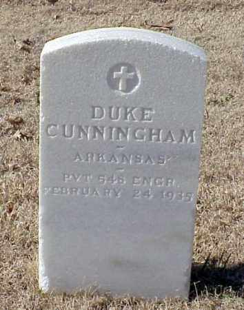 CUNNINGHAM (VETERAN WWI), DUKE - Pulaski County, Arkansas | DUKE CUNNINGHAM (VETERAN WWI) - Arkansas Gravestone Photos