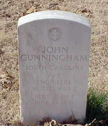 CUNNINGHAM (VETERAN WWI), JOHN - Pulaski County, Arkansas | JOHN CUNNINGHAM (VETERAN WWI) - Arkansas Gravestone Photos