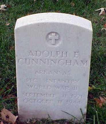 CUNNINGHAM (VETERAN WWII), ADOLPHH E - Pulaski County, Arkansas | ADOLPHH E CUNNINGHAM (VETERAN WWII) - Arkansas Gravestone Photos