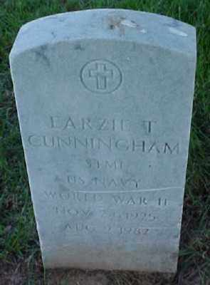 CUNNINGHAM (VETERAN WWII), EARZIE T - Pulaski County, Arkansas | EARZIE T CUNNINGHAM (VETERAN WWII) - Arkansas Gravestone Photos