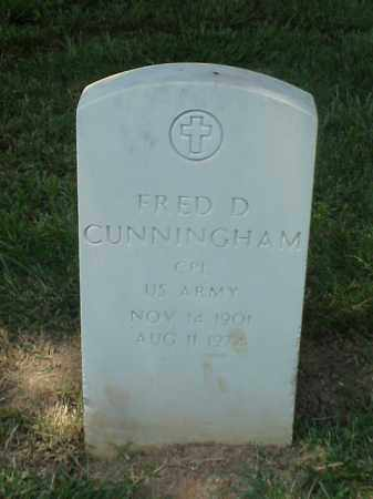 CUNNINGHAM (VETERAN WWII), FRED D - Pulaski County, Arkansas | FRED D CUNNINGHAM (VETERAN WWII) - Arkansas Gravestone Photos