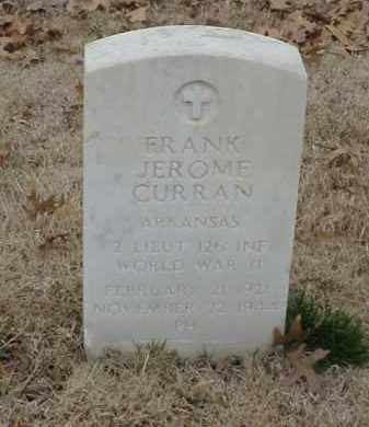 CURRAN  (VETERAN WWII), FRANK JEROME - Pulaski County, Arkansas | FRANK JEROME CURRAN  (VETERAN WWII) - Arkansas Gravestone Photos