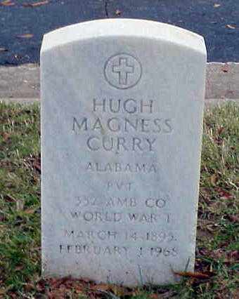 CURRY (VETERAN WWI), HUGH MAGNESS - Pulaski County, Arkansas | HUGH MAGNESS CURRY (VETERAN WWI) - Arkansas Gravestone Photos