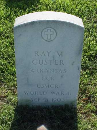 CUSTER (VETERAN WWII), RAY M - Pulaski County, Arkansas | RAY M CUSTER (VETERAN WWII) - Arkansas Gravestone Photos