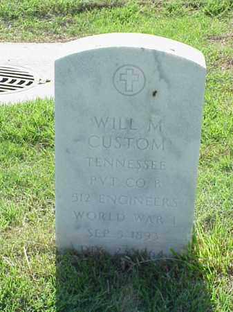 CUSTOM (VETERAN WWI), WILL M - Pulaski County, Arkansas | WILL M CUSTOM (VETERAN WWI) - Arkansas Gravestone Photos