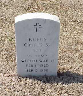 CYRUS, SR (VETERAN WWII), RUFUS - Pulaski County, Arkansas | RUFUS CYRUS, SR (VETERAN WWII) - Arkansas Gravestone Photos