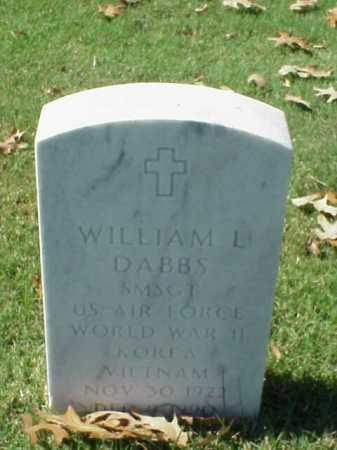 DABBS (VETERAN 3 WARS), WILLIAM L - Pulaski County, Arkansas | WILLIAM L DABBS (VETERAN 3 WARS) - Arkansas Gravestone Photos