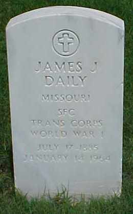 DAILY (VETERAN WWI), JAMES J - Pulaski County, Arkansas | JAMES J DAILY (VETERAN WWI) - Arkansas Gravestone Photos