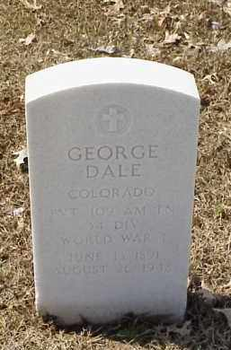 DALE  (VETERAN WWI), GEORGE - Pulaski County, Arkansas | GEORGE DALE  (VETERAN WWI) - Arkansas Gravestone Photos