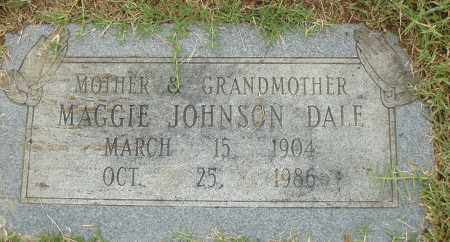 JOHNSON DALE, MAGGIE - Pulaski County, Arkansas | MAGGIE JOHNSON DALE - Arkansas Gravestone Photos