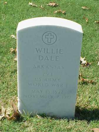 DALE (VETERAN WWI), WILLIE - Pulaski County, Arkansas | WILLIE DALE (VETERAN WWI) - Arkansas Gravestone Photos
