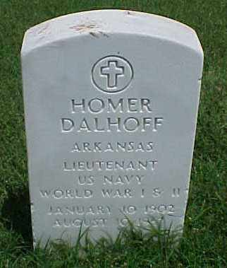 DALHOFF (VETERAN 2 WARS), HOMER - Pulaski County, Arkansas | HOMER DALHOFF (VETERAN 2 WARS) - Arkansas Gravestone Photos