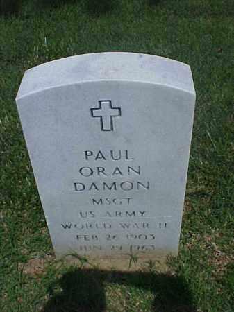 DAMON (VETERAN WWII), PAUL ORAN - Pulaski County, Arkansas | PAUL ORAN DAMON (VETERAN WWII) - Arkansas Gravestone Photos