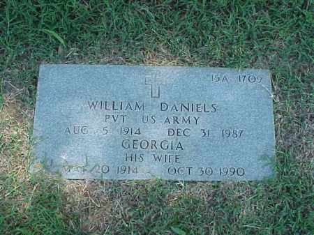 DANIELS (VETERAN WWII), WILLIAM - Pulaski County, Arkansas | WILLIAM DANIELS (VETERAN WWII) - Arkansas Gravestone Photos