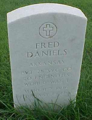 DANIELS (VETERAN WWI), FRED - Pulaski County, Arkansas | FRED DANIELS (VETERAN WWI) - Arkansas Gravestone Photos