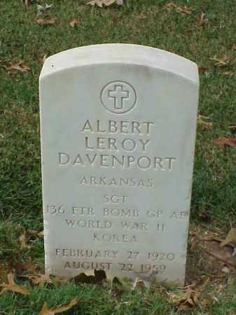DAVENPORT (VETERAN 2 WARS), ALBERT LEROY - Pulaski County, Arkansas | ALBERT LEROY DAVENPORT (VETERAN 2 WARS) - Arkansas Gravestone Photos