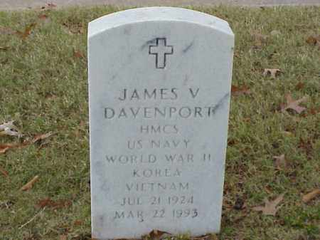 DAVENPORT (VETERAN 3 WARS), JAMES V - Pulaski County, Arkansas | JAMES V DAVENPORT (VETERAN 3 WARS) - Arkansas Gravestone Photos