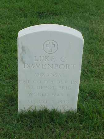 DAVENPORT (VETERAN WWI), LUKE C - Pulaski County, Arkansas | LUKE C DAVENPORT (VETERAN WWI) - Arkansas Gravestone Photos