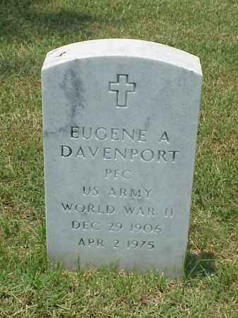 DAVENPORT (VETERAN WWII), EUGENE A - Pulaski County, Arkansas | EUGENE A DAVENPORT (VETERAN WWII) - Arkansas Gravestone Photos