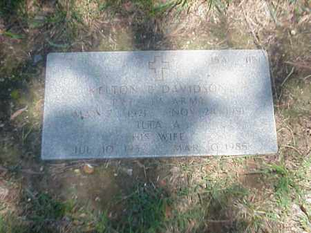 DAVIDSON (VETERAN 2 WARS), KELTON B - Pulaski County, Arkansas | KELTON B DAVIDSON (VETERAN 2 WARS) - Arkansas Gravestone Photos