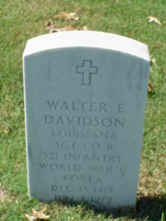 DAVIDSON, SR (VETERAN 2 WARS), WALTER E - Pulaski County, Arkansas | WALTER E DAVIDSON, SR (VETERAN 2 WARS) - Arkansas Gravestone Photos