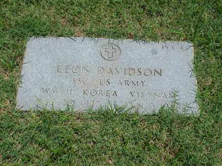 DAVIDSON (VETERAN 3 WARS), LEON - Pulaski County, Arkansas | LEON DAVIDSON (VETERAN 3 WARS) - Arkansas Gravestone Photos