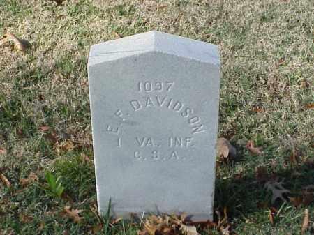 DAVIDSON (VETERAN CSA), E F - Pulaski County, Arkansas | E F DAVIDSON (VETERAN CSA) - Arkansas Gravestone Photos