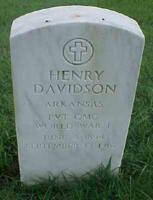 DAVIDSON (VETERAN WWI), HENRY - Pulaski County, Arkansas | HENRY DAVIDSON (VETERAN WWI) - Arkansas Gravestone Photos