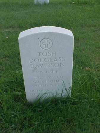 DAVIDSON (VETERAN WWII), TOSH DOUGLASS - Pulaski County, Arkansas | TOSH DOUGLASS DAVIDSON (VETERAN WWII) - Arkansas Gravestone Photos