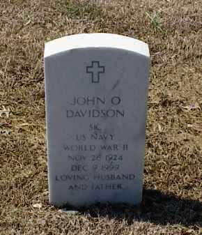 DAVIDSON (VETERAN WWII), JOHN O - Pulaski County, Arkansas | JOHN O DAVIDSON (VETERAN WWII) - Arkansas Gravestone Photos