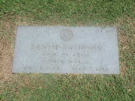 DAVIDSON (VETERAN WWII), ZANNIE - Pulaski County, Arkansas | ZANNIE DAVIDSON (VETERAN WWII) - Arkansas Gravestone Photos
