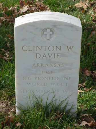 DAVIE (VETERAN WWI), CLINTON W - Pulaski County, Arkansas | CLINTON W DAVIE (VETERAN WWI) - Arkansas Gravestone Photos