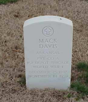 DAVIS  (VETERAN WWI), MACK - Pulaski County, Arkansas | MACK DAVIS  (VETERAN WWI) - Arkansas Gravestone Photos