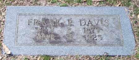 DAVIS, FRANK P. - Pulaski County, Arkansas | FRANK P. DAVIS - Arkansas Gravestone Photos