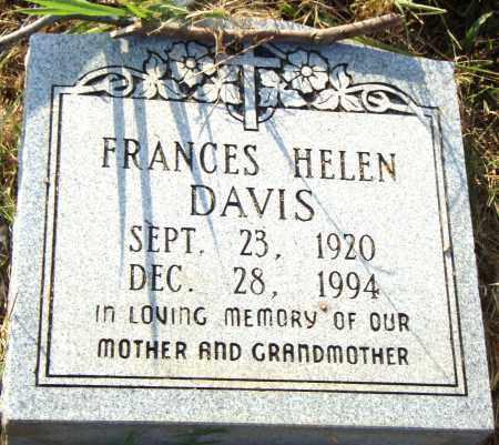 DAVIS, FRANCES HELEN - Pulaski County, Arkansas | FRANCES HELEN DAVIS - Arkansas Gravestone Photos