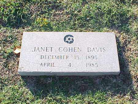 DAVIS, JANET - Pulaski County, Arkansas | JANET DAVIS - Arkansas Gravestone Photos
