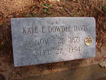 DAVIS, KATE E - Pulaski County, Arkansas | KATE E DAVIS - Arkansas Gravestone Photos