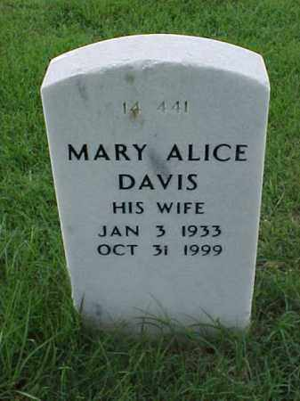 DAVIS, MARY ALICE - Pulaski County, Arkansas | MARY ALICE DAVIS - Arkansas Gravestone Photos