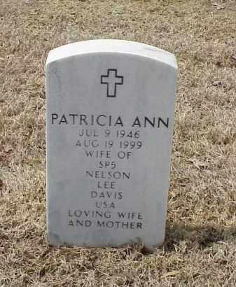 DAVIS, PATRICIA ANN - Pulaski County, Arkansas | PATRICIA ANN DAVIS - Arkansas Gravestone Photos