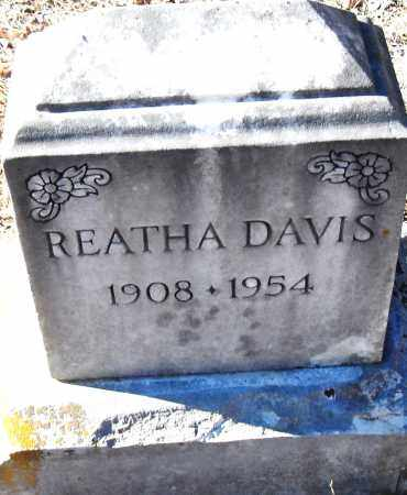 DAVIS, REATHA - Pulaski County, Arkansas | REATHA DAVIS - Arkansas Gravestone Photos