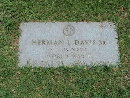 DAVIS, SR (VETERAN WWII), HERMAN L - Pulaski County, Arkansas | HERMAN L DAVIS, SR (VETERAN WWII) - Arkansas Gravestone Photos