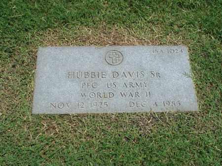 DAVIS, SR (VETERAN WWII), HUBBIE - Pulaski County, Arkansas | HUBBIE DAVIS, SR (VETERAN WWII) - Arkansas Gravestone Photos